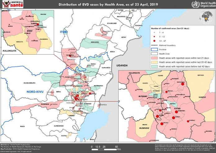 Democratic Republic of Congo Ebola cases near 1500 after deadliest