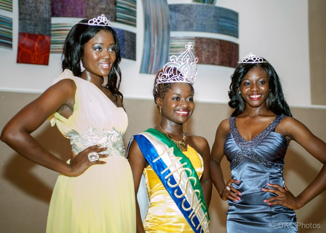 Ms Sierra Leone USA 2012 and the first and second runners up