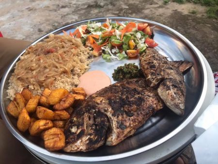 The attieke with fish at Roof Garden