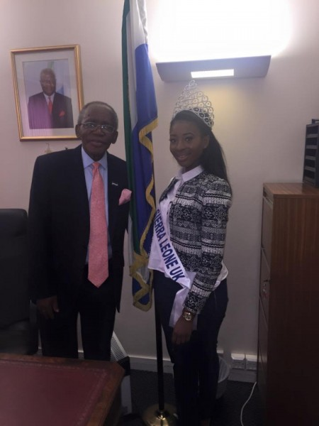 Miss Yazmin Karim & Honourable His Excellency Edward Turay.